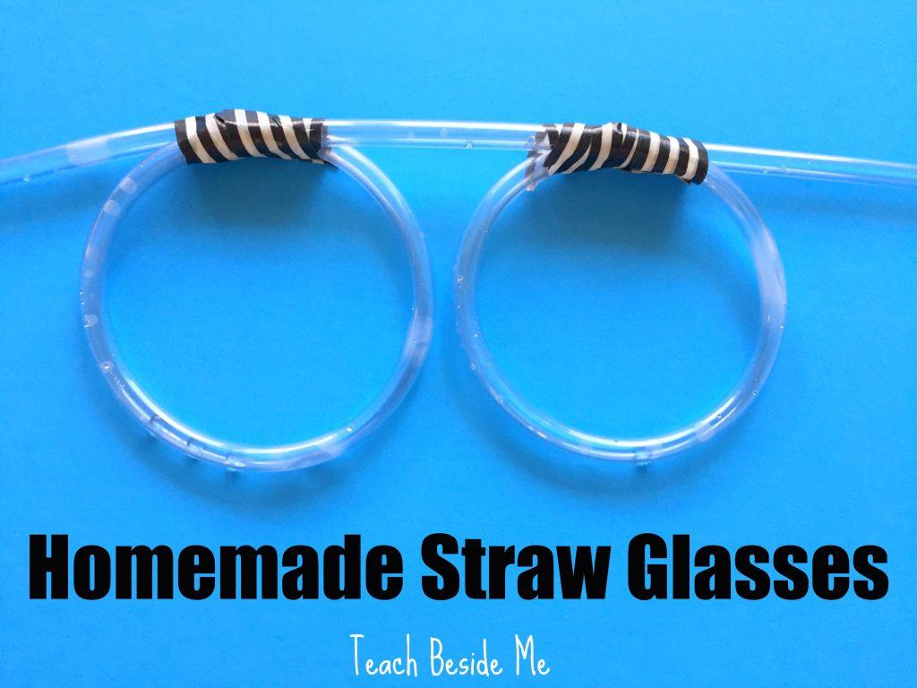 make homemade straw drinking glasses