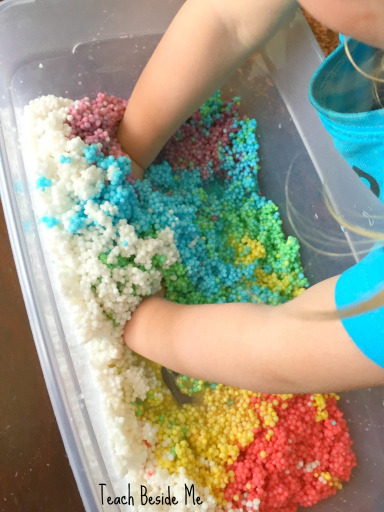 sensory bin for toddlers and preschoolers- tapioca pearls