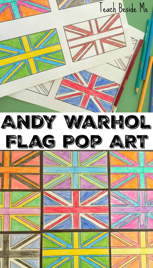 Andy Warhol for kids- Art Project - Flag Pop Art