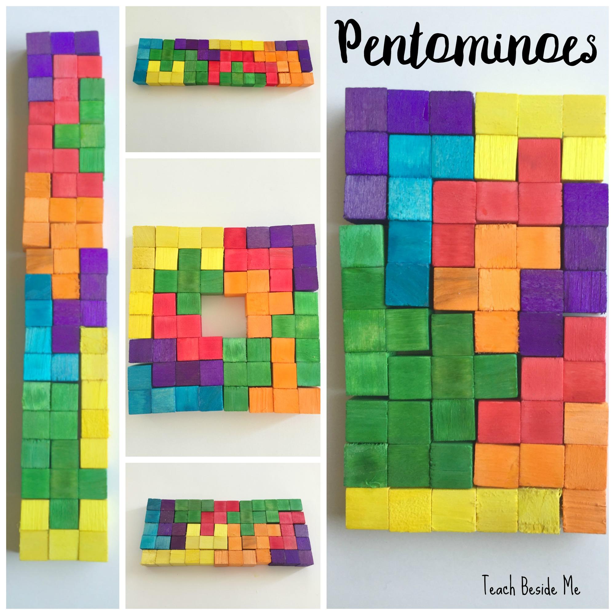 photo relating to Pentominoes Printable known as Pentomino Blocks Math Match Educate Beside Me