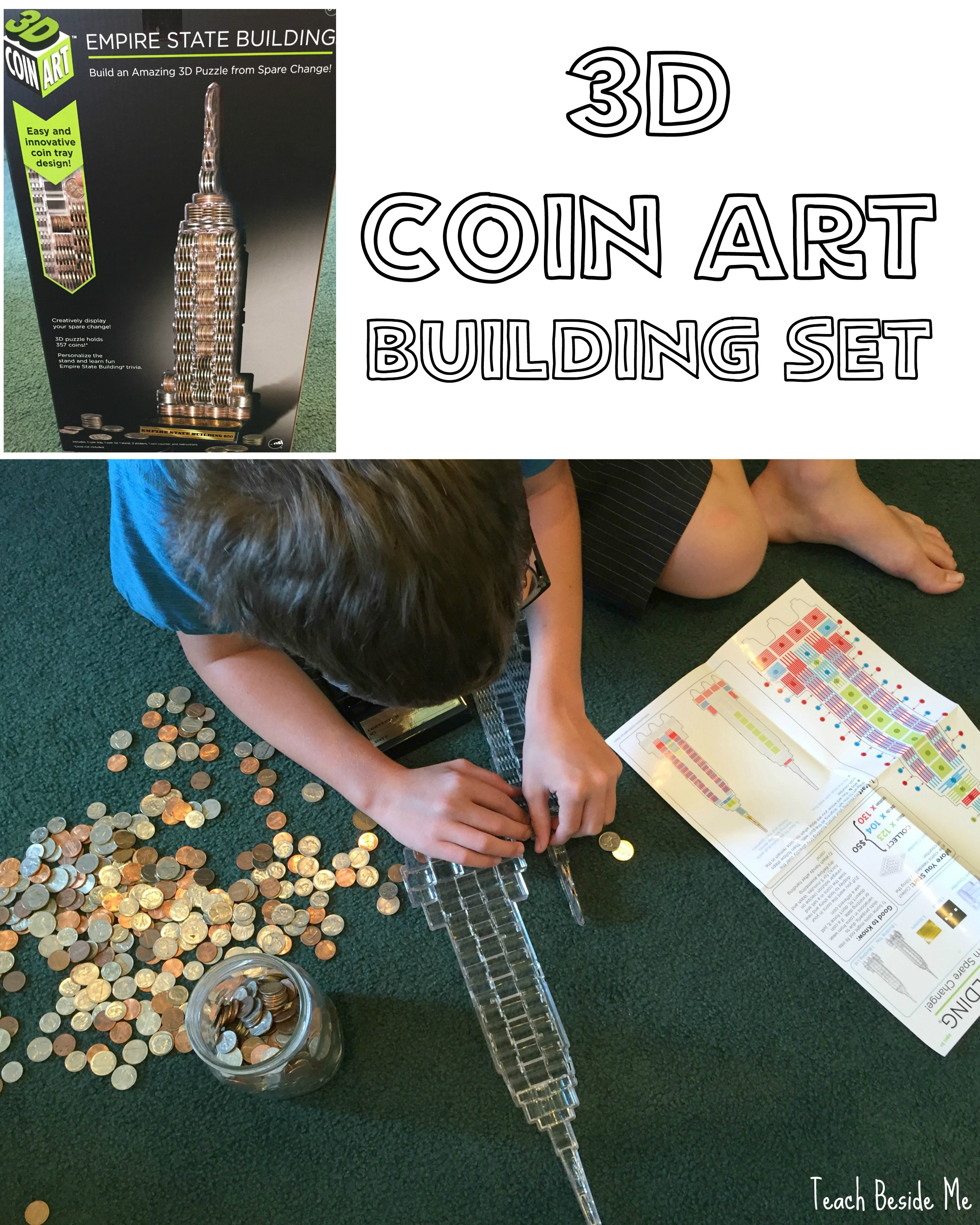3D Coin Art Structures