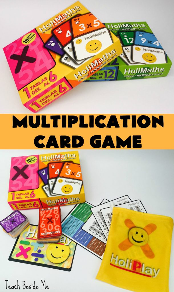 Multiplication Card Game reviewed at Teach Beside Me