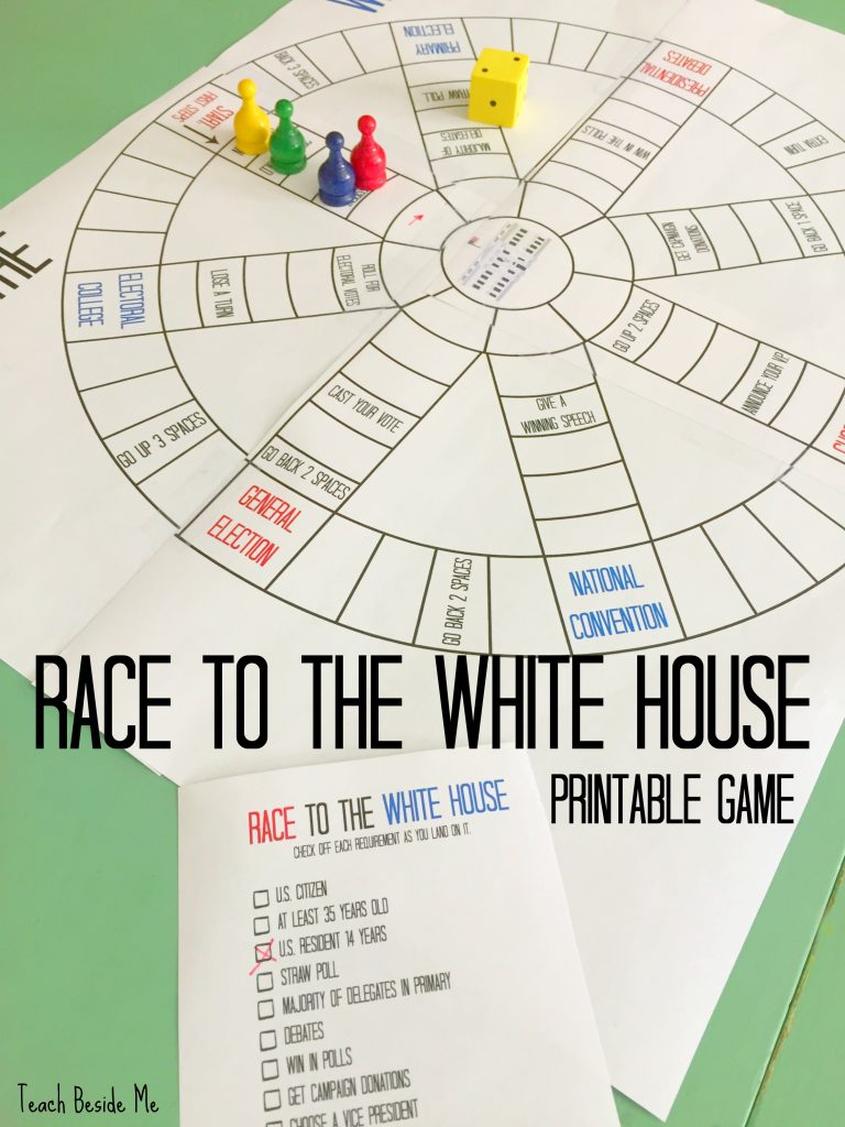 Race To The White House Printable Board Game