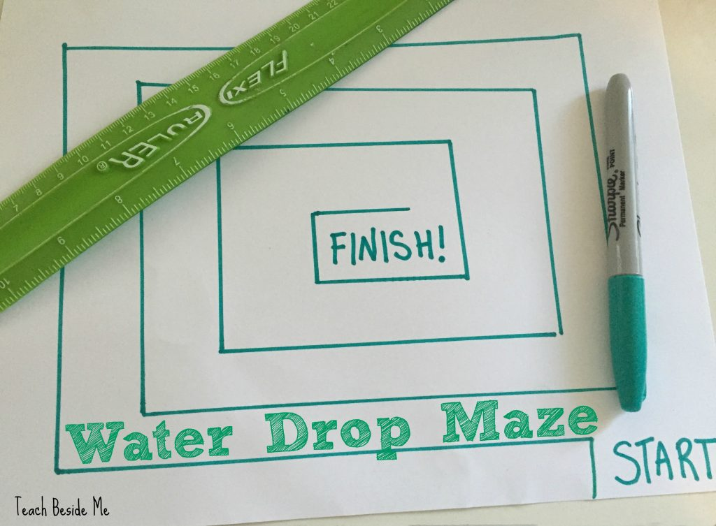 Water Drop Maze from Teach Beside Me