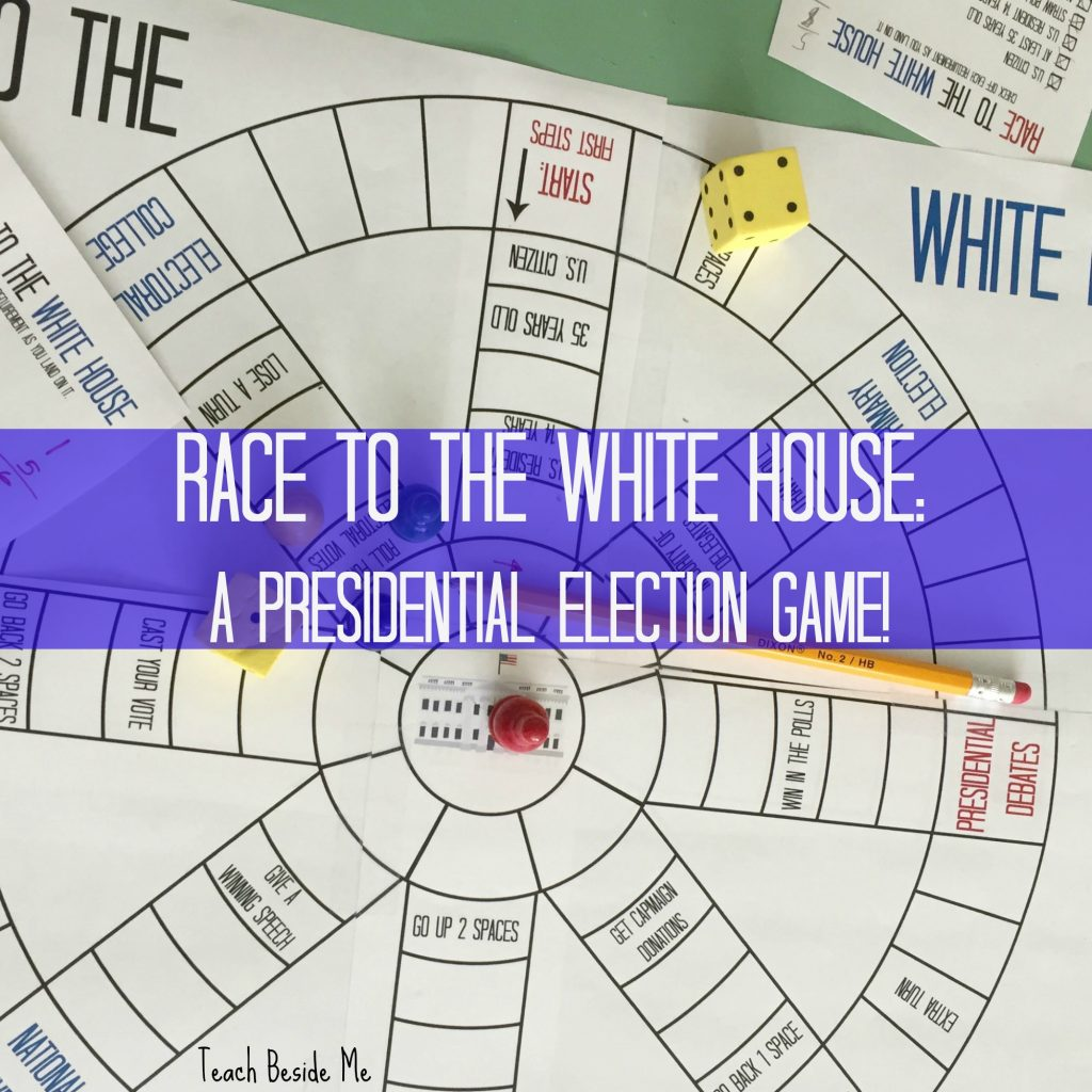 Race to the white house presidential election game teach beside me white house election game pooptronica