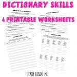 $ Dictionary Skills