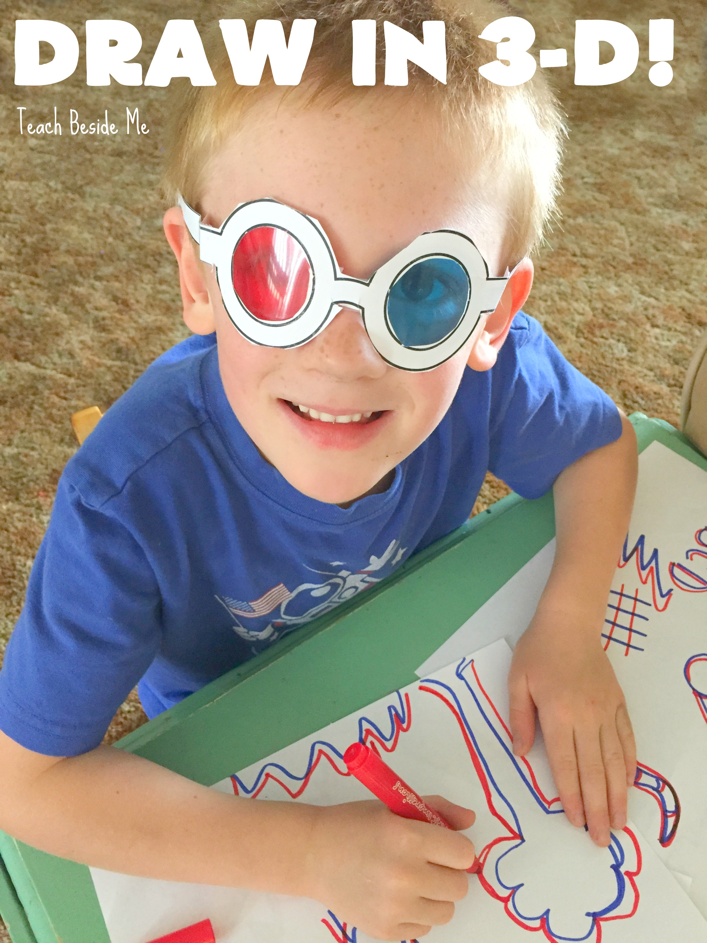 3-D Drawings with Kids