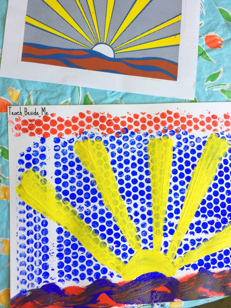 lichtenstein-bubble-wrap-art-lesson