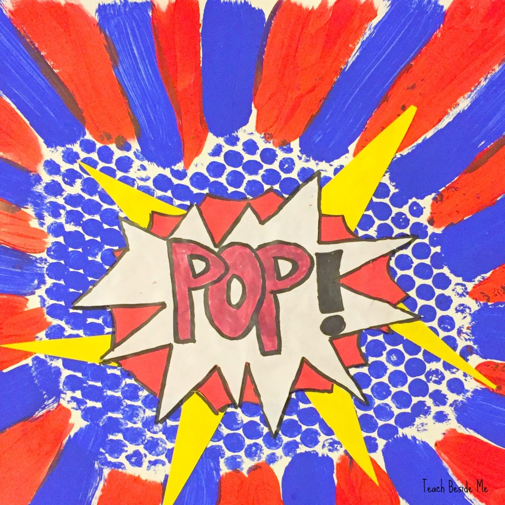 Lichtenstein pop art with bubble wrap