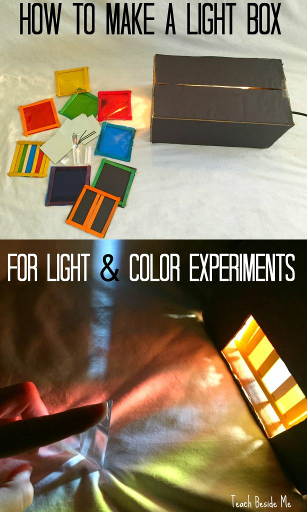 Light and color experiments with a light box - STEM Ed