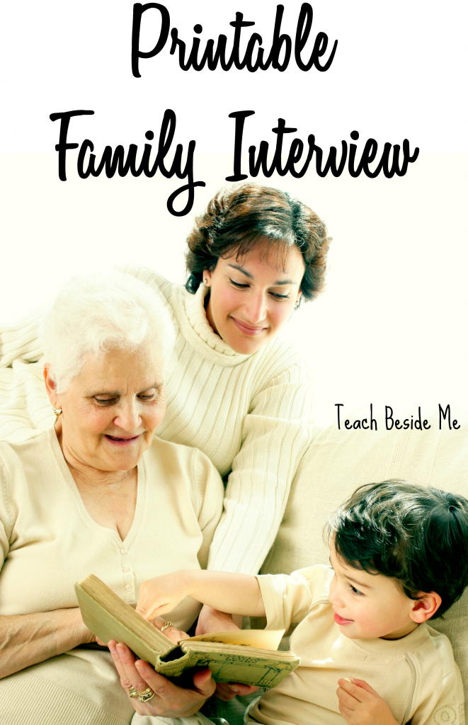 Printable family interview