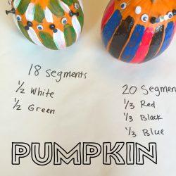 Pumpkin Math: How Many Segments?
