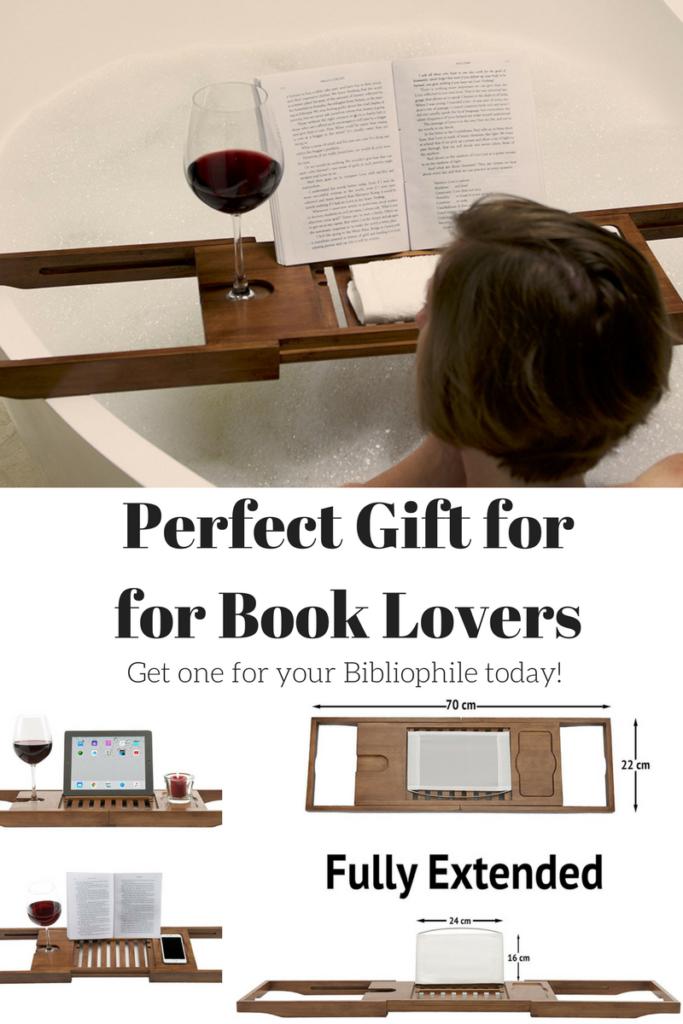 Book Caddy for bathtub- reader gift
