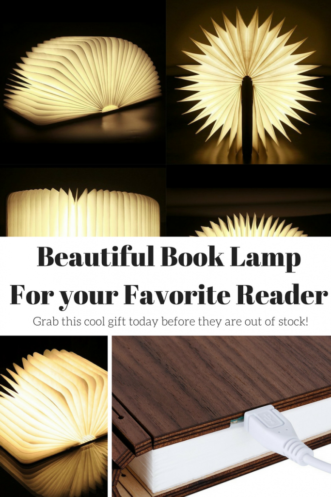 book shaped lamp gift for book lovers