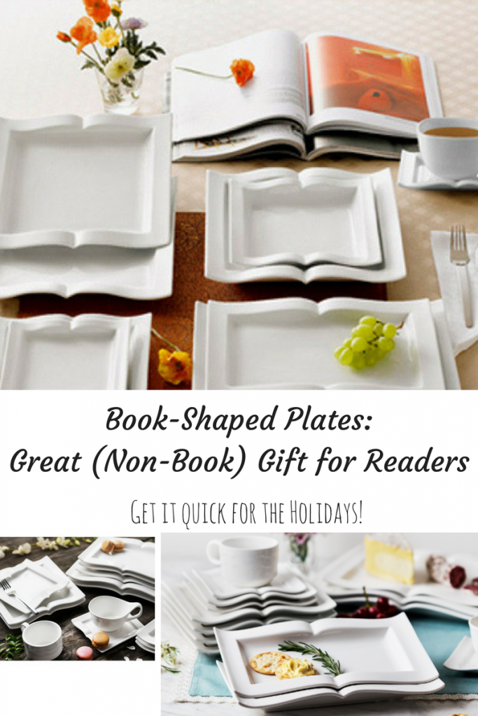beautiful book shaped plates- gift for readers