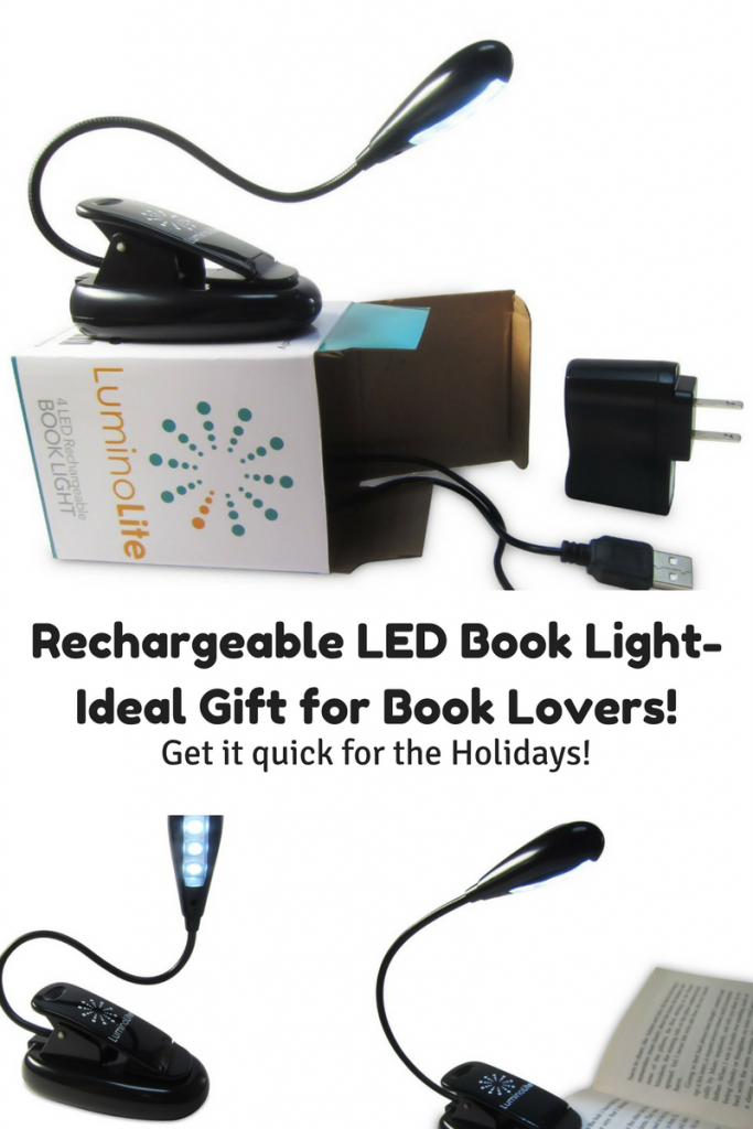 Rechargeable book light- perfect gift for readers