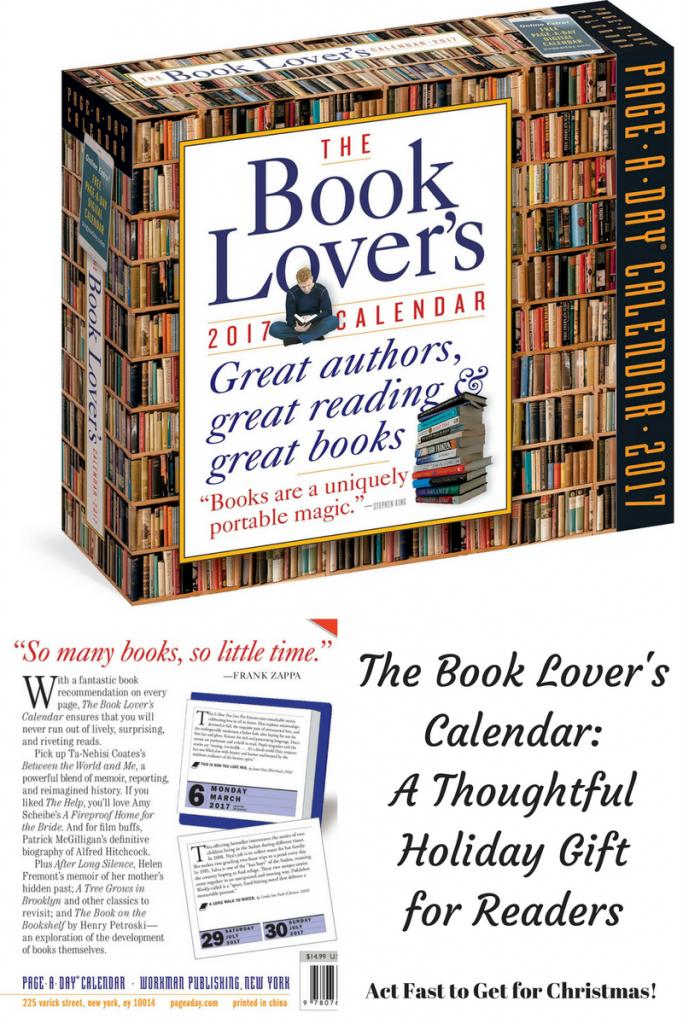 Book Lover's Calendar- gift for readers