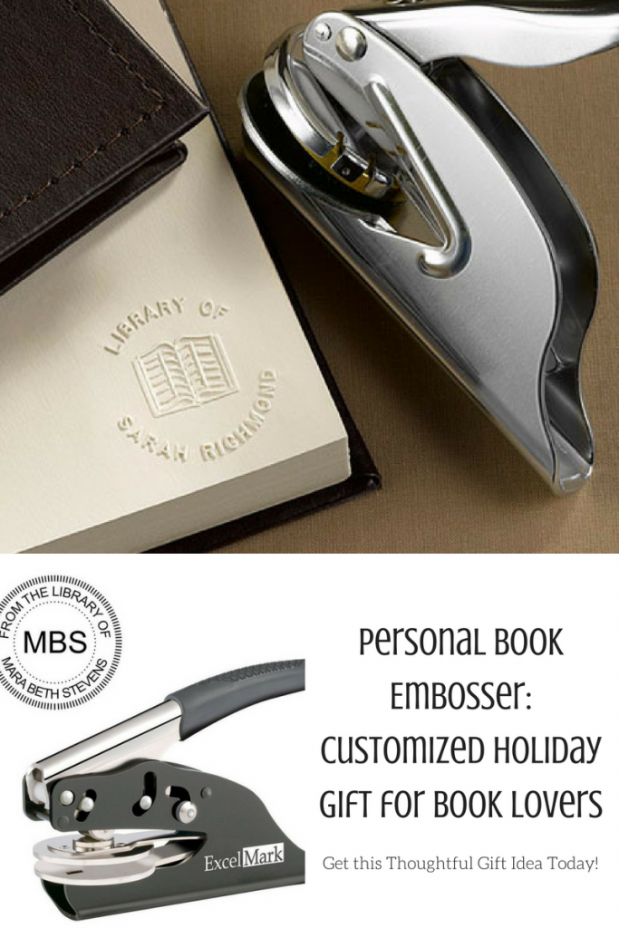 Personal book embosser- thoughtful gift for readers