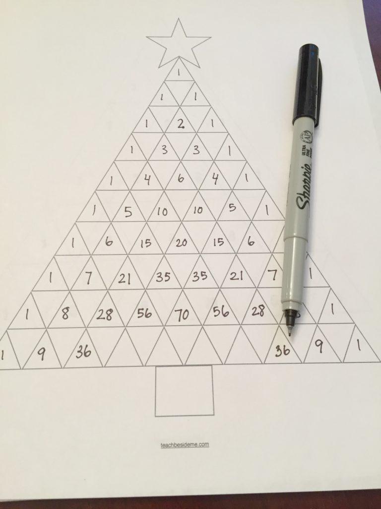 Christmas Math Pascal's Triangle