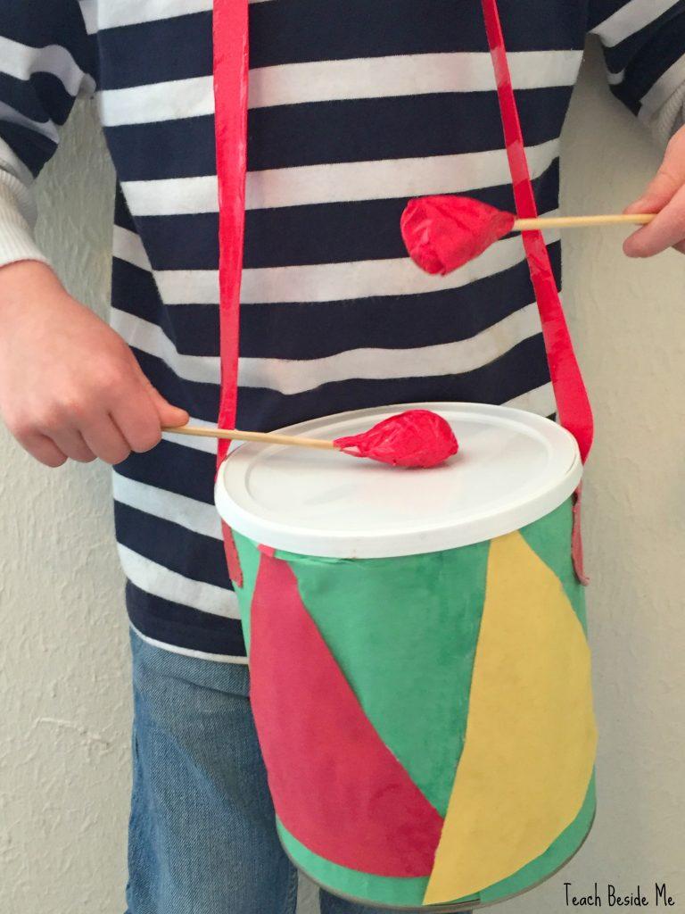 Drum craft for kids-Little Drummer Boy