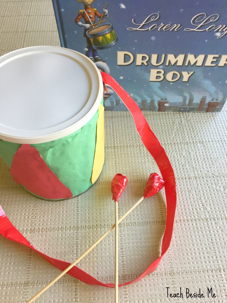 Drummer Boy Christmas drum craft for kids