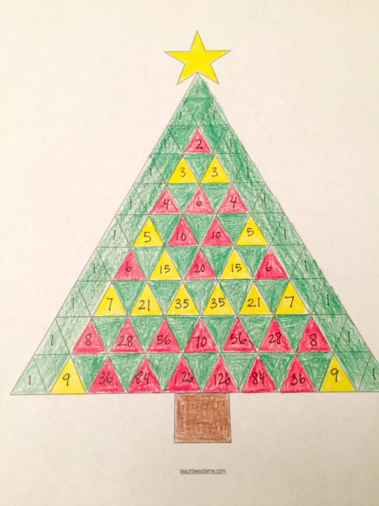 Pascal S Triangle Christmas Tree Math Teach Beside Me