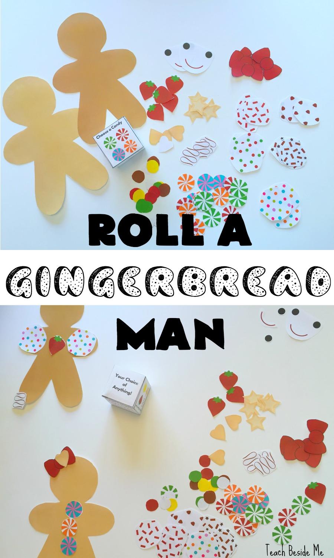 Roll a Gingerbread Man- Preschool Christmas Game