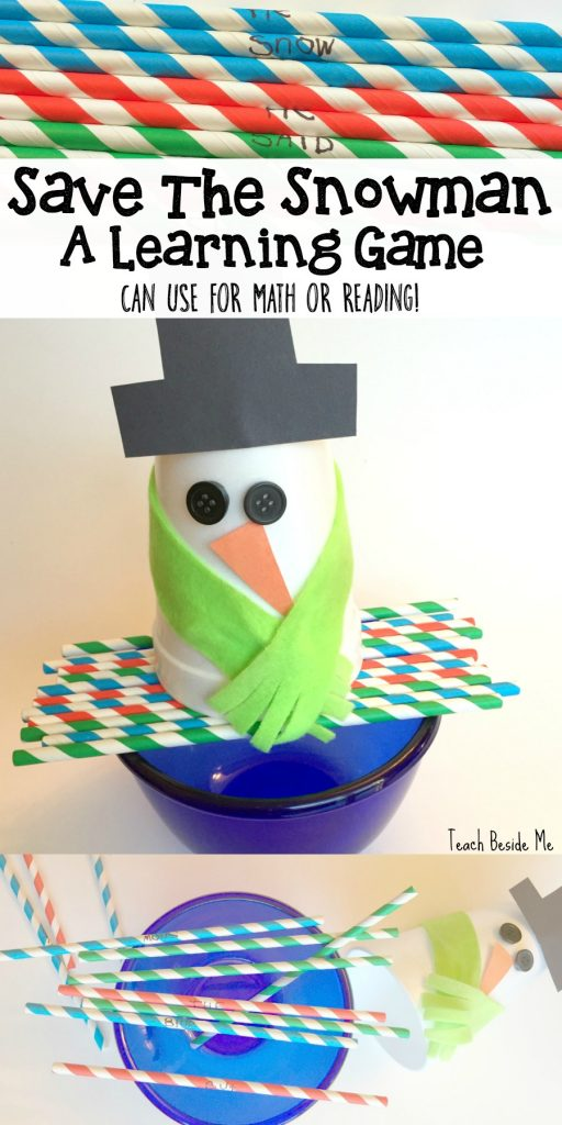 Save the Snowman-a Hands-on Learning Game for math or reading