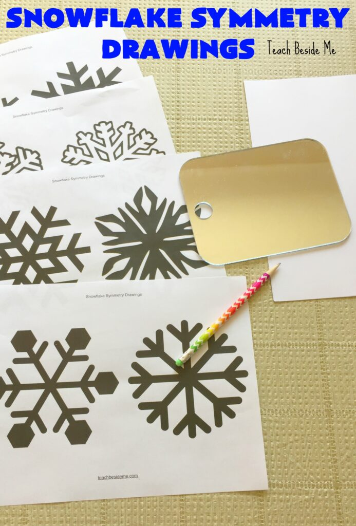 Snowflake symmetry drawings