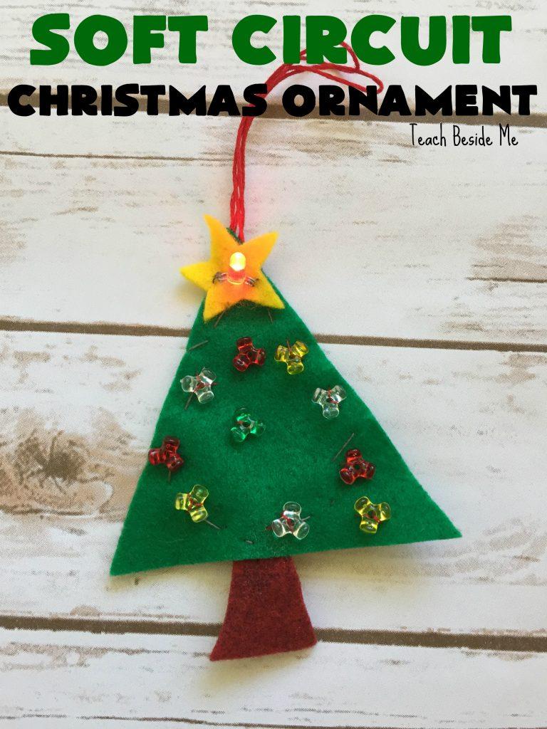 Soft Circuit Christmas Ornament