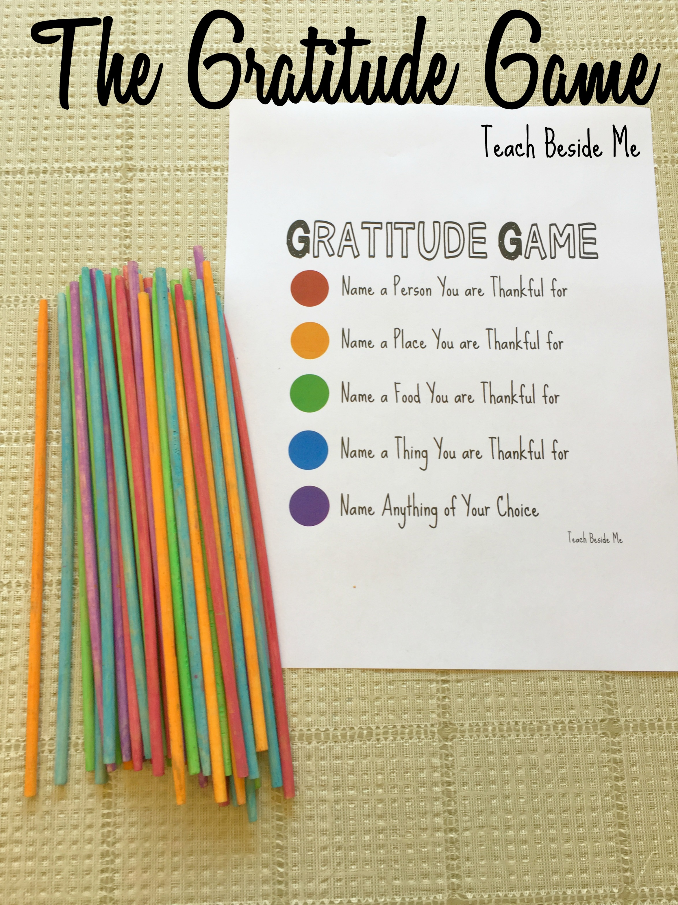 The Gratitude Game Pick Up Sticks – Teach Beside Me