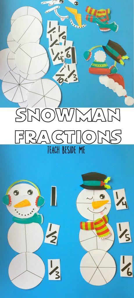 Winter Math - Snowman Fractions