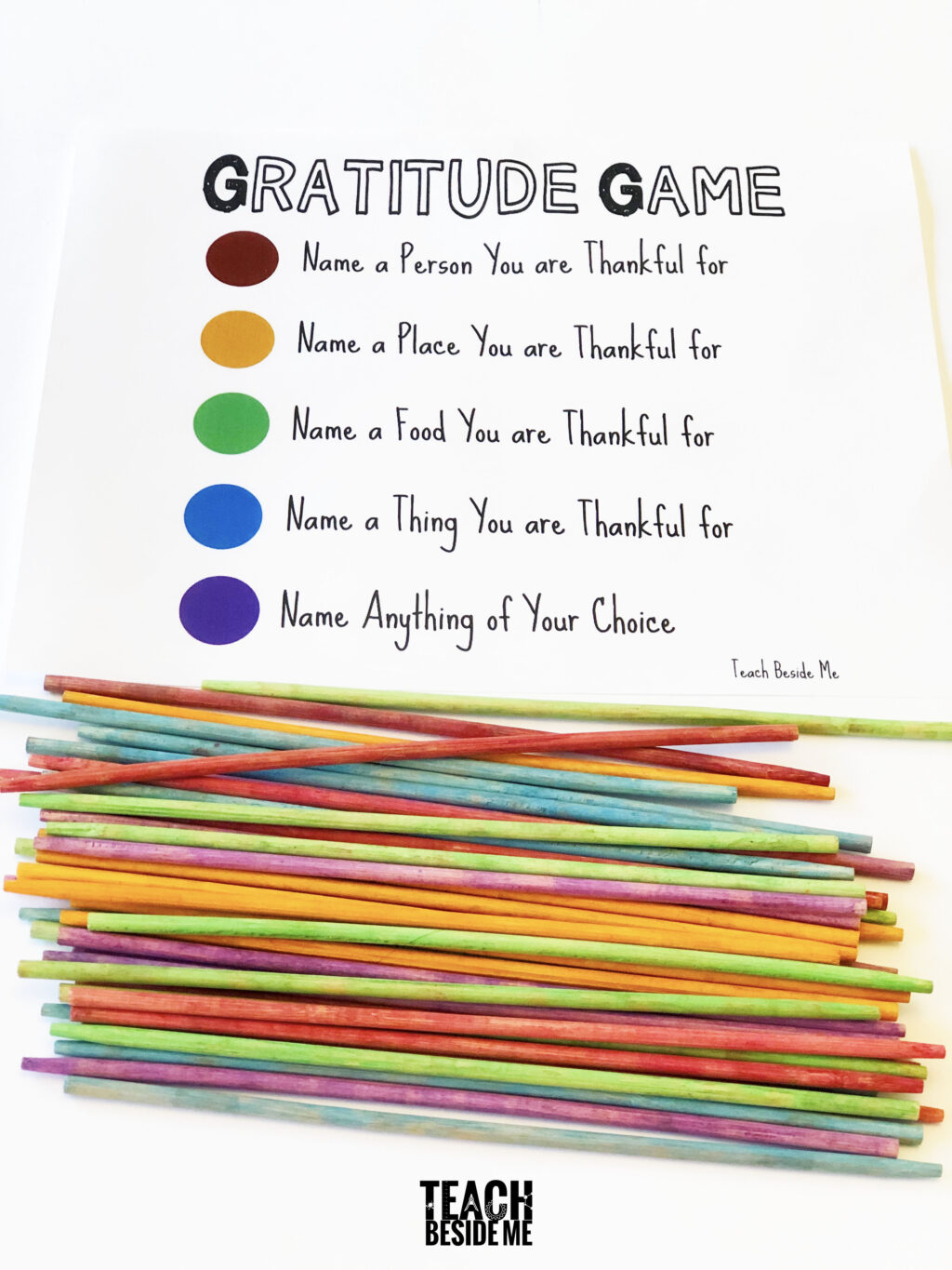 The Gratitude Game: Pick-Up Sticks – Teach Beside Me