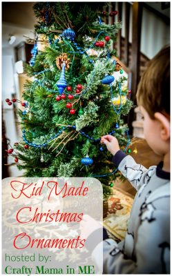 kid made christmas ornaments-blog-hop