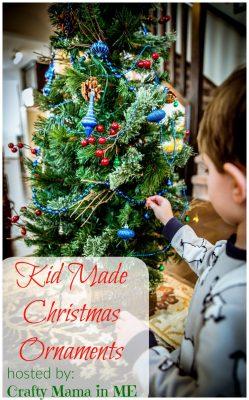 kid made christmas ornaments-blog-hop