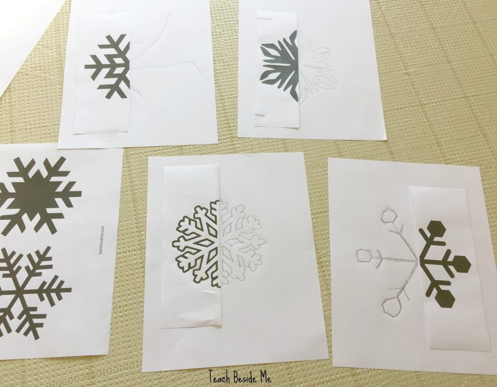 teaching-symmetry-with-snowflakes