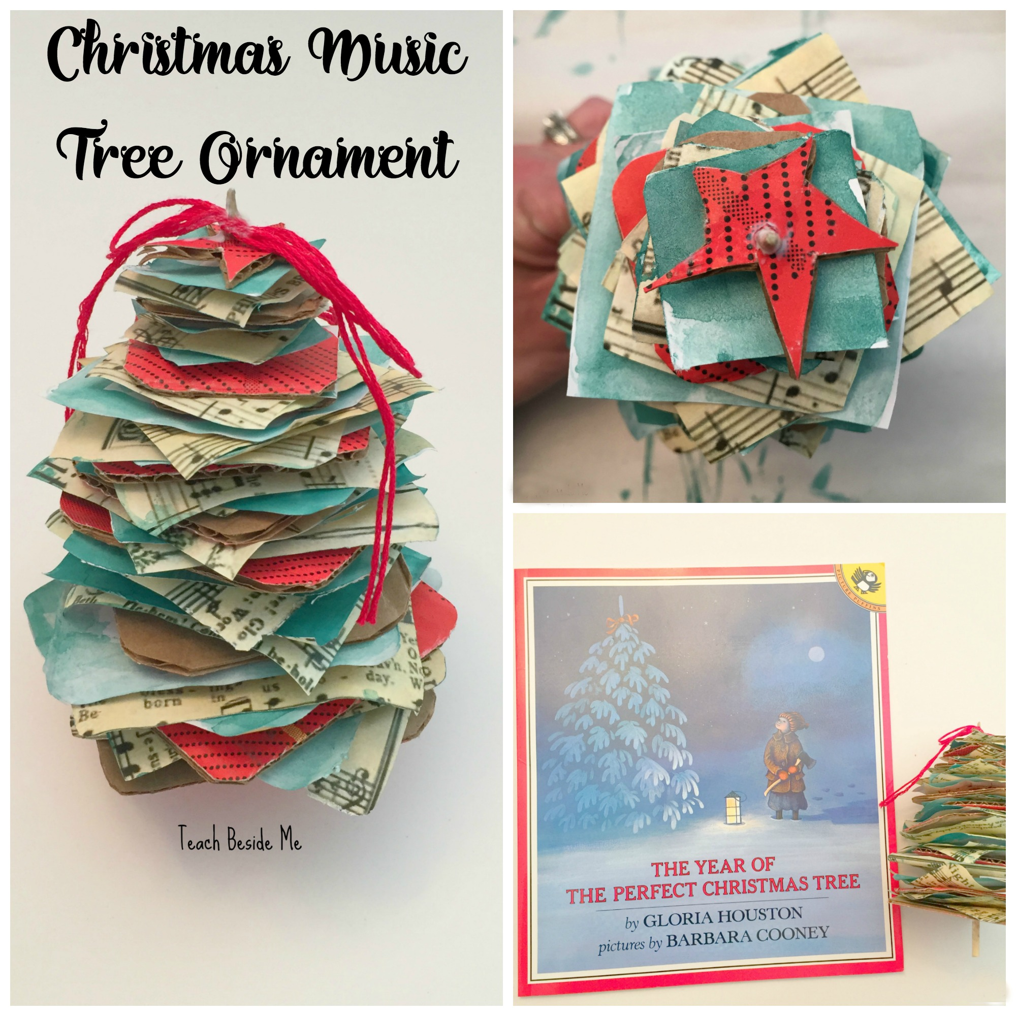 Homemade Christmas Music Tree Ornament