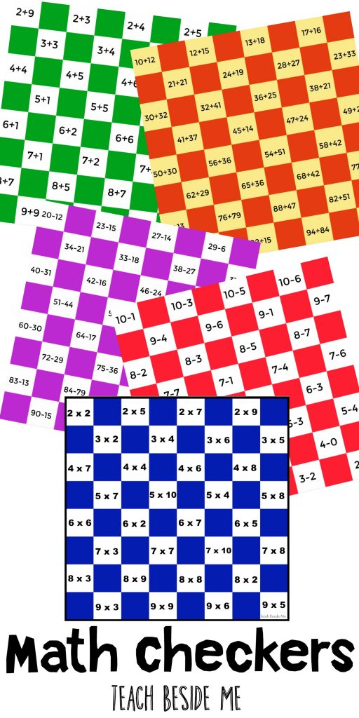 image about Printable Checkers Board titled Math Checkers Prepare Beside Me