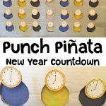 New Year Countdown Punch Pinata