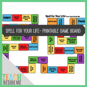 photograph about Printable Game Board known as Spell For Your Daily life Board Video game