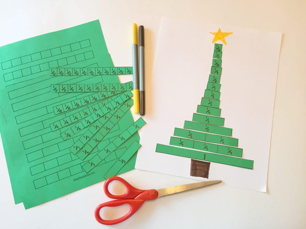 christmas tree fractions