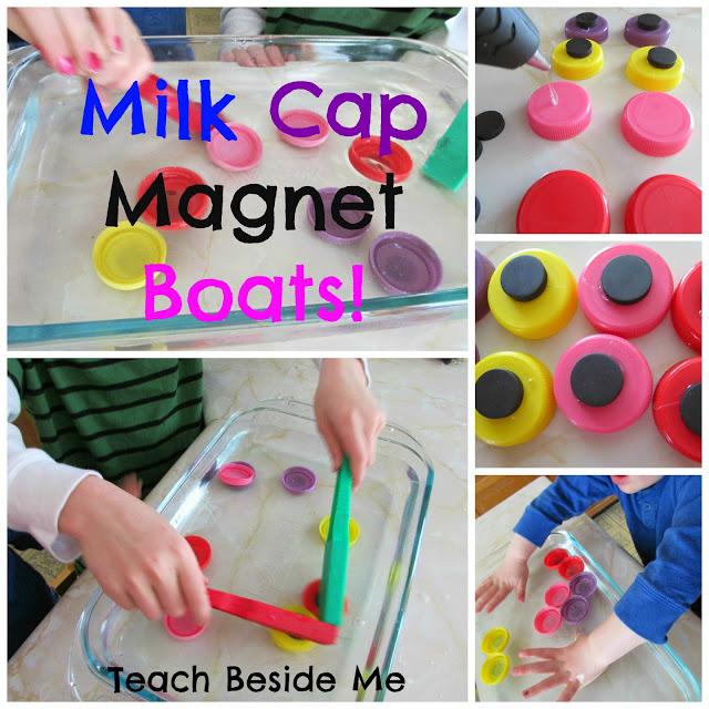 milk cap magnet boat