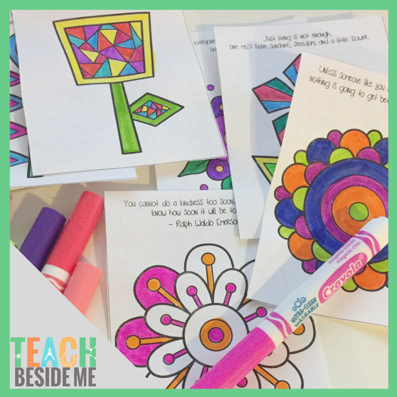 Acts of Kindness Coloring Notes