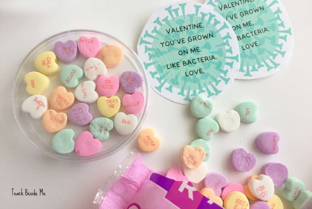 Bacteria Science Valentines printable