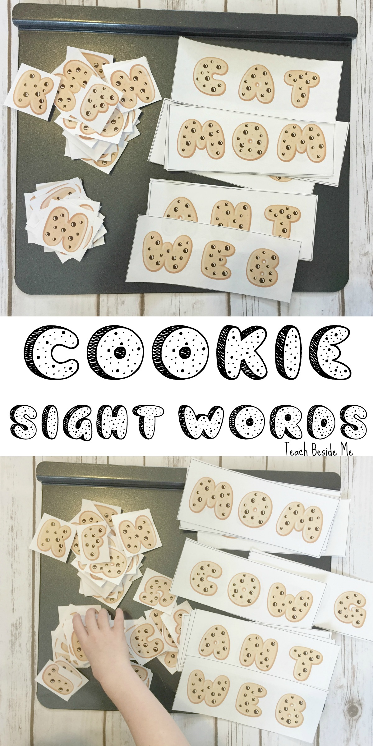 Sight Word Spelling with Cookies