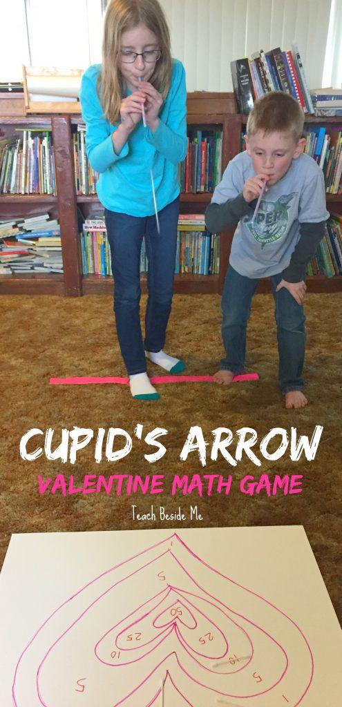 Valentine's Day STEM- Cupid's Arrow Math Game