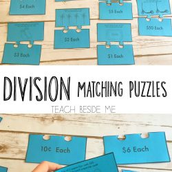 Division Matching Puzzles With Money