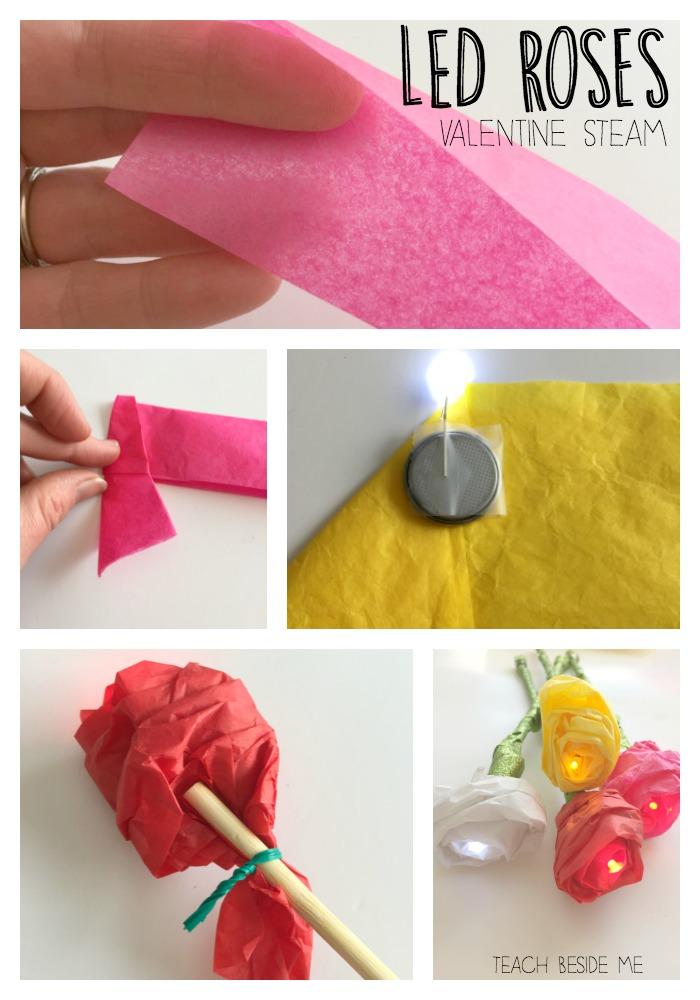 Valentine STEM- LED Roses