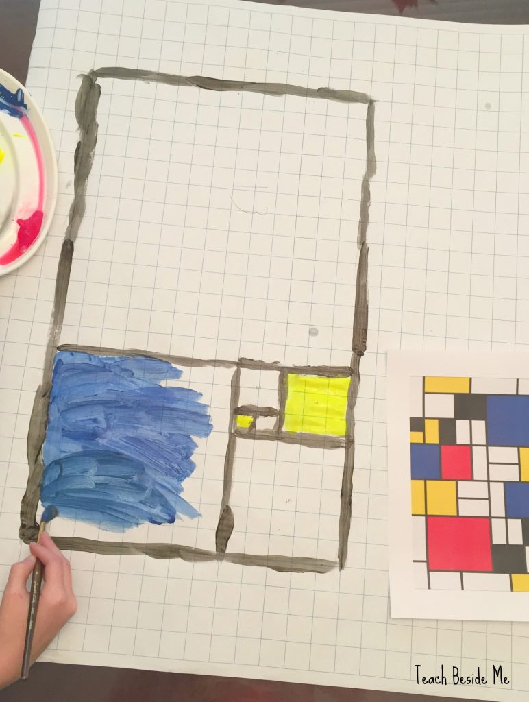 Mondrian and Fibonacci Art Project