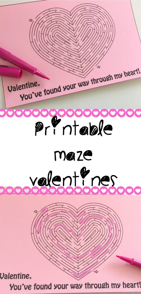 graphic about Printable Kid Valentines named Printable Maze Valentine Coach Beside Me